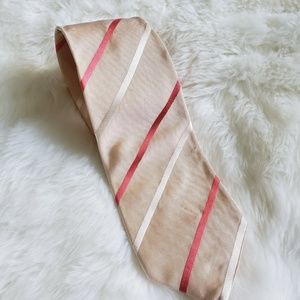 PRADA 100% SILK STRIPED NECK TIE